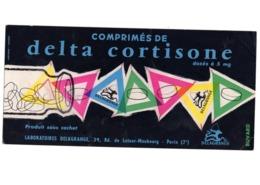 Buvard Comprimés Delta Cortisone Dose Cachet Laboratoires Delagrange Paris Medicament Pharmacie - Chemist's