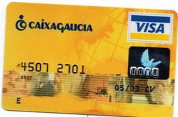Bank Spain Credit Card CAIXA GALICIA Visa - Electron - Master Card - Tarjeta De Credito - Cartes De Crédit (expiration Min. 10 Ans)