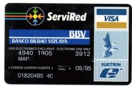 Bank Spain Credit Card BANCO BILBAO VIZCAYA Visa - Electron - Master Card - Tarjeta De Credito - Cartes De Crédit (expiration Min. 10 Ans)