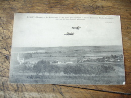 Guerre 14.18 Dugny  Avion Allemand Descendu Par Nos Braves Aviateurs - Guerre 1914-18