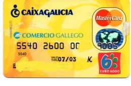Bank Spain Credit Card CAIXA GALICIA COMERCIO GALLEGO Visa - Electron - Master Card - Tarjeta De Credito - Credit Cards (Exp. Date Min. 10 Years)