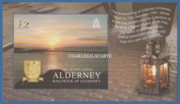 ALDERNEY AURIGNY 2005  WORLD WAR II ANNIVERSARY THE HOMECOMING  M.S. S.G. MS 266  U.M.  N.S.C. - Alderney