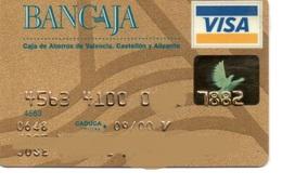Bank Spain Credit Card BANCAJA GOLD Visa - Electron - Master Card - Tarjeta De Credito - Cartes De Crédit (expiration Min. 10 Ans)