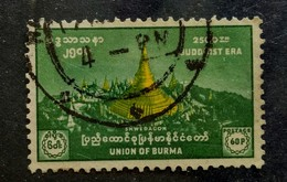 142. BURMA ( 60P) USED STAMP  BUDDHIST ERA - Myanmar (Burma 1948-...)