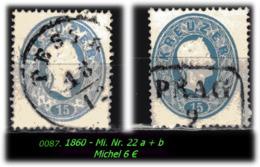 Österreich - Mi. Nr. 22 A + B In Sauber Gebraucht - - Gebraucht