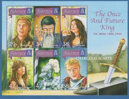 ALDERNEY AURIGNY 2006  KING ARTHUR LEGEND  M.S. S.G. MS 273  U.M.  N.S.C. - Alderney