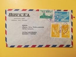1963 BUSTA INTESTATA PANAMA BOLLO AIR MAIL MEMORES BODAS DE PLATA ANNULLO OBLITERE' PANAMA - Panama