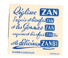 Buvard Reglisse Zan Gommes Zanbi Bonbon Sucreries - Sucreries & Gâteaux