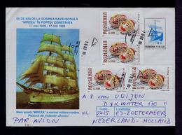 "School-Bateaux ""MIRCEA"" Militaria Marine ROMANIA 1939-1999 Cover Postal Stationery Transports Gc4923 - Ships"