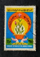 142. BURMA ( 15P) USED STAMP FLOWERS - Myanmar (Burma 1948-...)