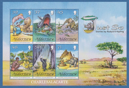 ALDERNEY AURIGNY 2007  RUDYARD KIPLING JUST SO STORIES  M.S. S.G. MS 328  U.M.  N.S.C. - Alderney