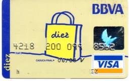 Bank Spain Credit Card BBVA   Visa - Electron - Master Card - Tarjeta De Credito - Cartes De Crédit (expiration Min. 10 Ans)