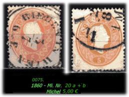 Österreich -Mi. Nr. 20 A + B In Sauber Gebraucht - - Gebraucht