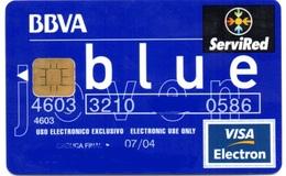Bank Spain Credit Card BBVA BLUE   Visa - Electron - Master Card - Tarjeta De Credito - Cartes De Crédit (expiration Min. 10 Ans)