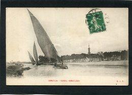 CPA - ISMAÏLIA - Canal Ismaïlieh - Bateaux - Ismailia