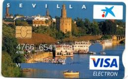 Bank Spain Credit Card CAIXA  SEVILLA    Visa - Electron - Master Card - Tarjeta De Credito - Cartes De Crédit (expiration Min. 10 Ans)