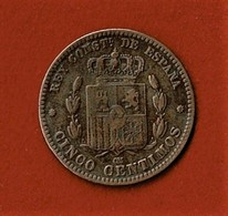 ALFONSO XII / CINCO CENTIMOS / 1877 - [ 1] …-1931 : Koninkrijk
