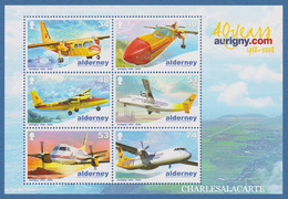 ALDERNEY AURIGNY 2008  AVIATION ANNIVERSARY  M.S. S.G. MS 355  U.M.  N.S.C. - Alderney