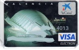 Bank Spain Credit Card CAIXA VALENCIA   Visa - Electron - Master Card - Tarjeta De Credito - Cartes De Crédit (expiration Min. 10 Ans)