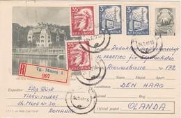 AKRO Romania Postal Stationery Coat Of Arms With Mi 1874 Textile Weaver Mi 1888 TV & Radio - Cancelled Târgu Mureș 1967 - Romania