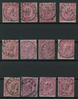 Lot 390A  Samenstelling Cirkelstempels Gemeenten Met C  W.o. Luxe Exemplaren - Marcophilie