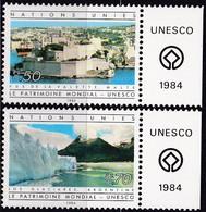 UNO-Genf, 1984, 122/23,  MNH **, UNESCO-Welterbe. - Geneva - United Nations Office