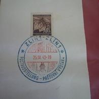 TIMBRE TCHEQUIE BOHMEN UND MAHREN CACHET POSTOVNI VYSTAVA 1942 SUR FRAGMENT - Tchéquie