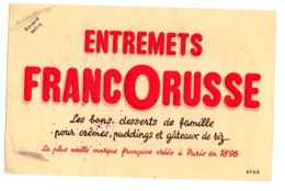 Buvard Entremets Francorusse Dessert Famille Cremes Pudding Gateaux Riz - Food