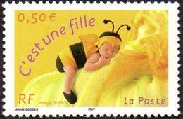 France N° 3634 B - C'est Une Fille, Gomme Mate - France