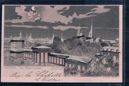 Allemagne, Aachen Der Elisenbrunnen, Carte Litho Avec Effet De Lumière (24.1.1901) - Contraluz