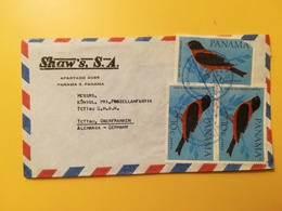 1966 BUSTA INTESTATA PANAMA BOLLO AIR MAIL UCCELLI BIRDS ANNULLO OBLITERE' PANAMA - Panama