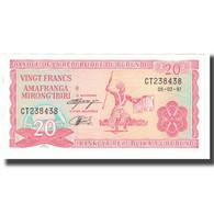 Billet, Burundi, 20 Francs, 1997, 1997-02-05, KM:27A, SUP - Burundi