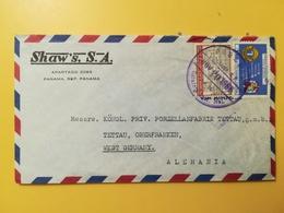 1966 BUSTA INTESTATA PANAMA BOLLO AIR MAIL ANNIVERSARY LIONS ANNULLO OBLITERE' PANAMA - Panama