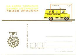 Poland:Postal Stationery, Cargo Bus, 1973 - Autobus & Pullman