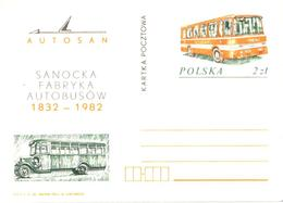 Poland:Postal Stationery, Autosan Bus, 1982 - Autobus & Pullman