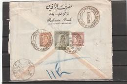 Iraq BAGHDAD AS-SAMAWAL REGISTERED AIRMAIL COVER 1953 - Irak