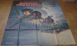 AFFICHE CINEMA ORIGINALE FILM RANDONNEE POUR UN TUEUR POITIER BERENGER 1988 DESSIN - Posters