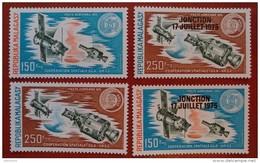 Madagascar 1975-1975 - Soyuz Apollo Mi 719-720 MNH - Space Cosmos Deluxe Luxe Rare Ovp Overprint Jonction Malagasy - Madagascar (1960-...)
