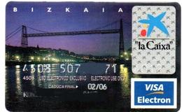 Bank Spain Credit Card CAIXA BIZKAIA ( BRIDGE)  Visa - Electron - Master Card - Tarjeta De Credito - Cartes De Crédit (expiration Min. 10 Ans)