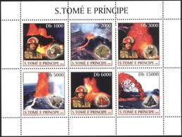 Mint Stamps In Miniature Sheet Minerals 2003 From Sao Tome And Principe - Minerales