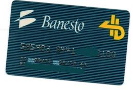 Bank Spain Credit Card BANESTO  Visa - Electron - Master Card - Tarjeta De Credito - Credit Cards (Exp. Date Min. 10 Years)