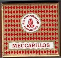 "Boite "" MECCARILLOS "" De 20 Cigarillos Ormond - Seita - Fabriqué En SUISSE - Vente En France - Advertising Items"