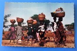 Bobo-Dioulasso Haute Volta Ex Colonie Française Burkina Faso-CPSM Carte Postale Retour Du Marché - Postcards