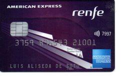 Bank Spain Credit Card PUBLICITY RENFE AMERICAN EXPRESS  IT'S NOT  Visa - Electron - Master Card - Tarjeta De Credito - Geldkarten (Ablauf Min. 10 Jahre)