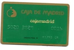 OLD ANCIENT Bank Spain Credit Card CAJA MADRID  Visa - Electron - Master Card - Tarjeta De Credito - Cartes De Crédit (expiration Min. 10 Ans)