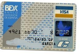 OLD ANCIENT Bank Spain Credit Card BANCO EXTERIOR ESPAÑA  Visa - Electron - Master Card - Tarjeta De Credito - Cartes De Crédit (expiration Min. 10 Ans)