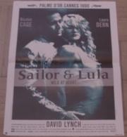 AFFICHE CINEMA ORIGINALE FILM SAILOR ET LULA DAVID LYNCH Nicolas CAGE Laura DERN PALME D'OR CANNES 1990 - Posters