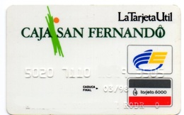 OLD ANCIENT Bank Spain Credit Card  CAJA SAN FERNANDO Visa - Electron - Master Card - Tarjeta De Credito - Cartes De Crédit (expiration Min. 10 Ans)