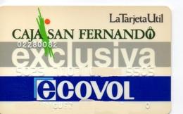 OLD ANCIENT Bank Spain Credit Card  CAJA SAN FERNANDO EXCLUSIVA ECOVOL Visa   Electron - Master Card  Tarjeta De Credito - Cartes De Crédit (expiration Min. 10 Ans)