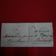 LETTRE SUISSE BERN POUR BORDEAUX 1854 - 1854-1862 Helvetia (Non-dentelés)